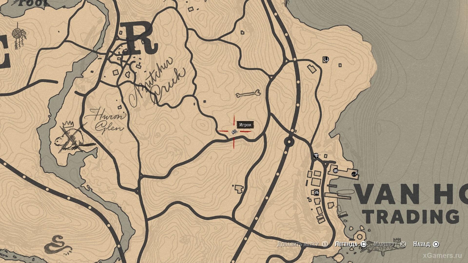 Отметка на карте где растет Тимьян ползучий