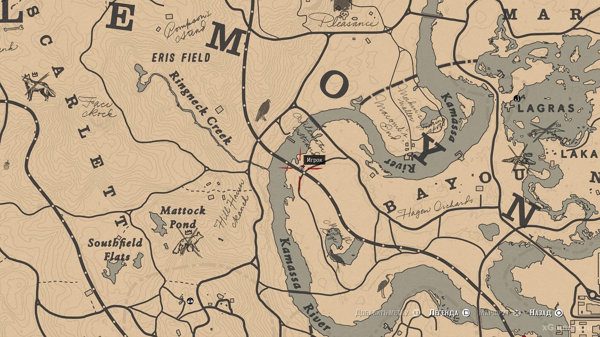Отметка на карте, где растет Олеандр