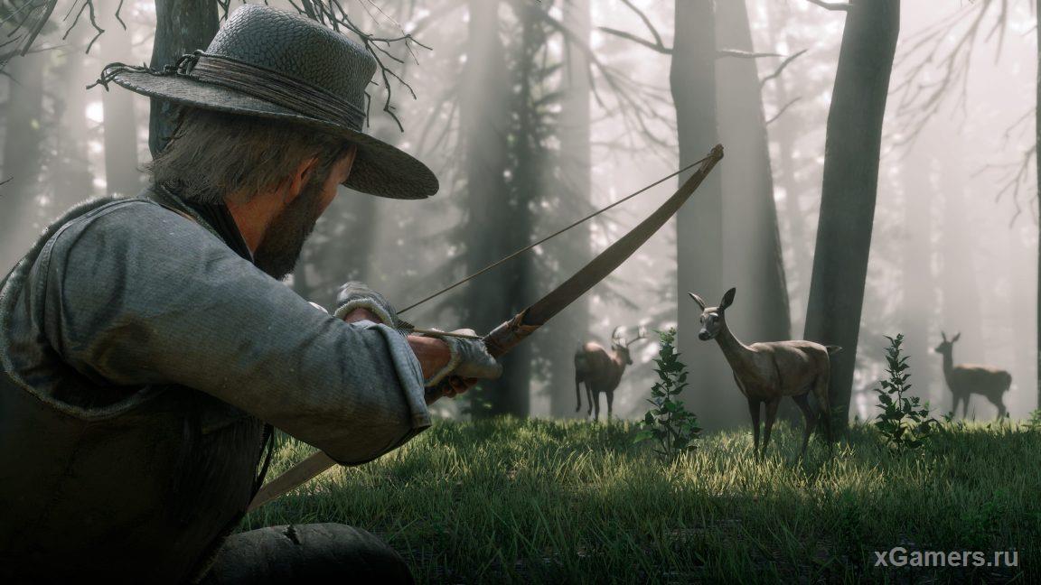 Rdr 2: лук и стрелы - тихое и действенное оружие