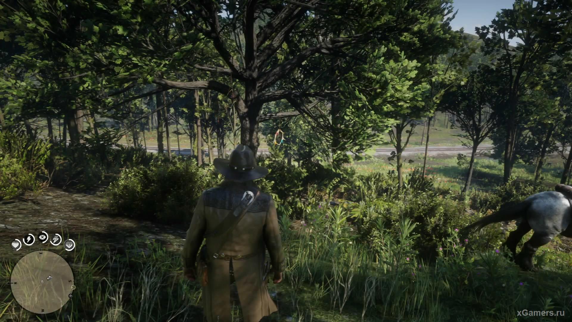 Шестой тоже надежно спрятан возле локации Нью Гановер.Он висит на нижней ветке крепкого дерева