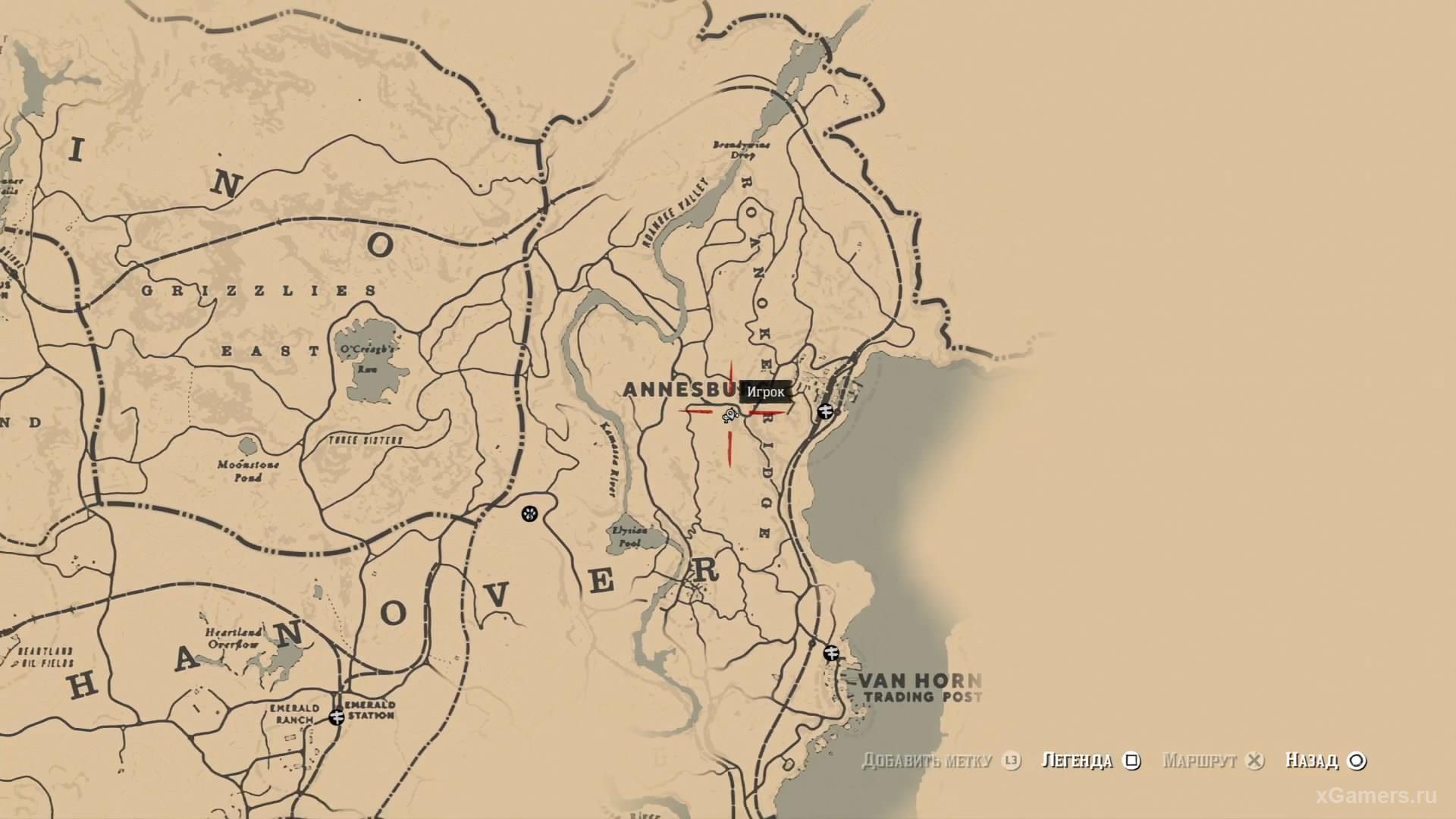 отметка на карте где находится седьмой ловец