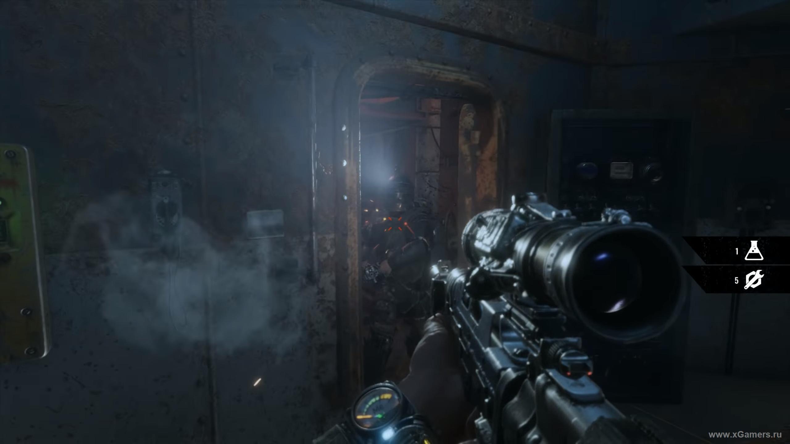 Босс вооруженный пулеметом и с хорошей броней - Metro Exodus