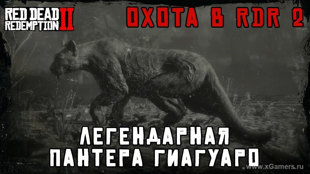 Легендарный пантера в игре Red dead redemption 2