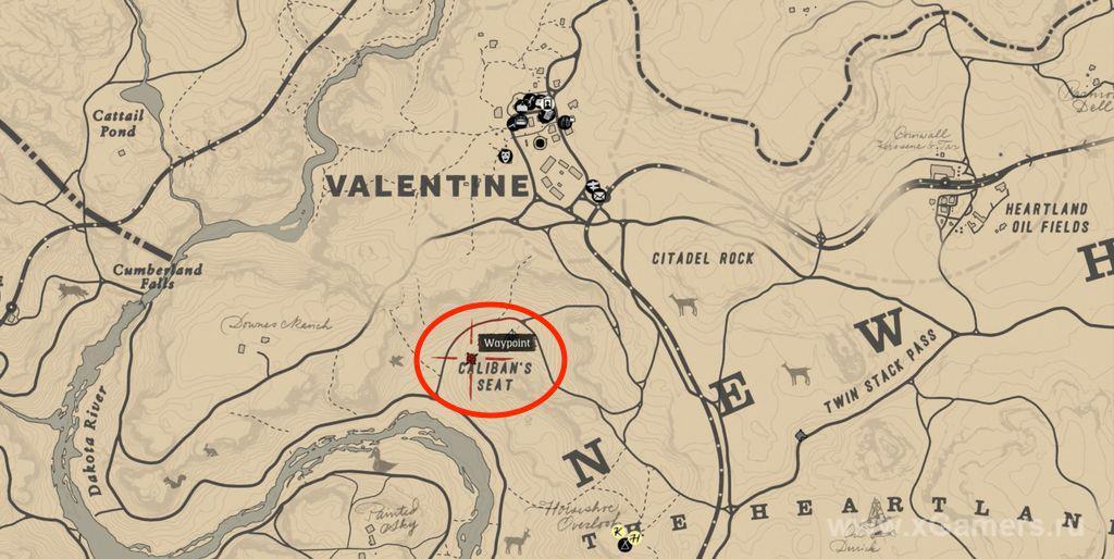 Местоположение первой части карты