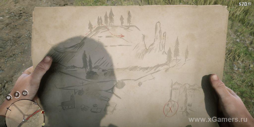 Первая карта сокровищ Артура - охота за сокровищами начинается)